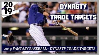 2019 Fantasy Baseball- Dynasty Trade Targets - Buy Low Targets