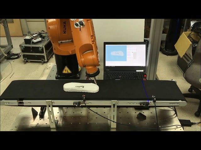 KUKA Robot and QuellTech Laser Scanner for 3D Modeling & Glue Operation - Solution Made by Quadrep
