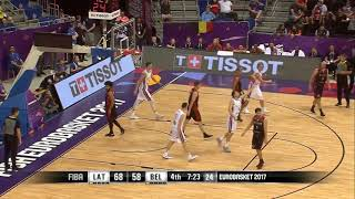 Kristaps Porzingis INSANE PUT BACK DUNK AT FIBA!!
