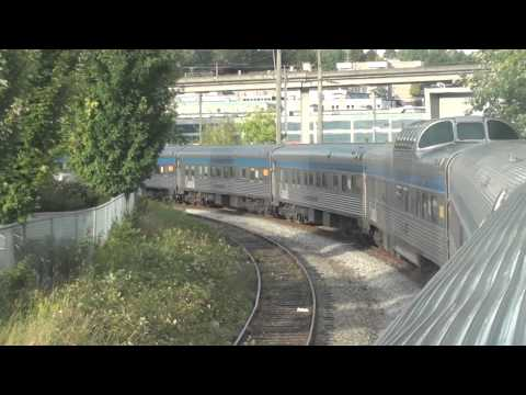 The Canadian Backing into Vancouver Pacific Central station