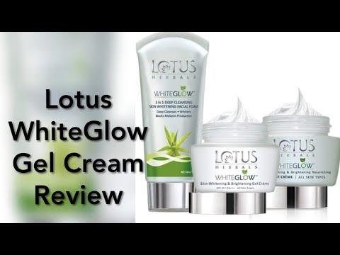 LOTUS Herbal Whiteglow Skin Whitening and Brightening Gel Cream Review ||beautyvlog