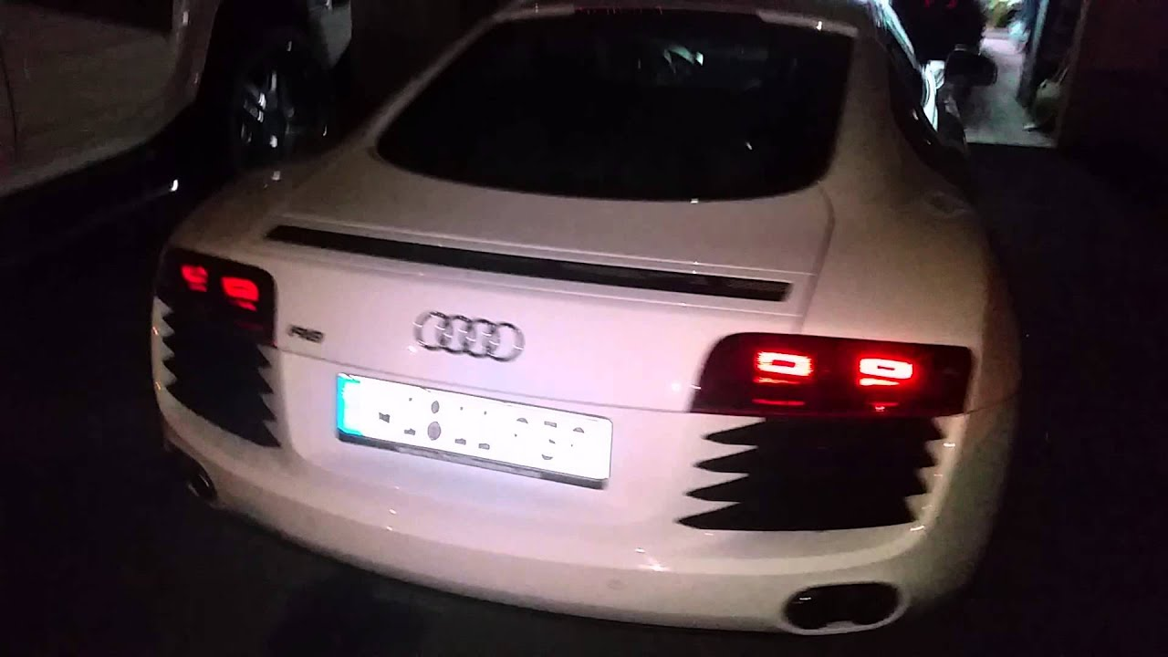 audi r8 vermietung mainz wiesbaden led logo youtube. Black Bedroom Furniture Sets. Home Design Ideas