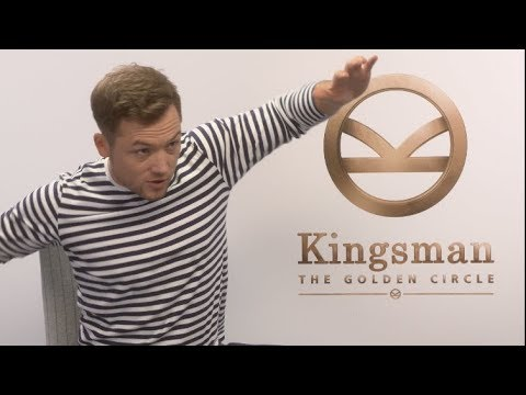 KINGSMAN THE GOLDEN CIRCLE Interviews - Egerton, Firth, Bridges, Vaughn, Berry, Pascal, Moore
