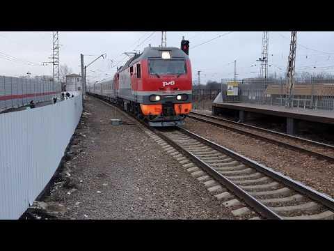 143-ий Москва-Кисловодск под тягой ЭП2К-224 по Царицыно