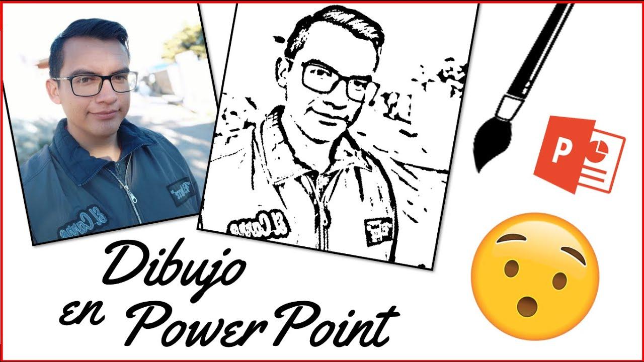 Cómo Convertir Una Foto En Dibujo Powerpoint Muy Fácil Youtube