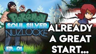 ALREADY A GREAT START... - Pokémon Soul Silver Nuzlocke Randomizer w/ Oshikorosu! Part 1!
