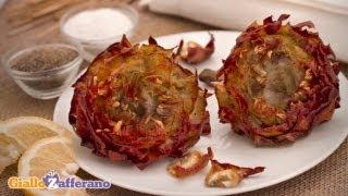 Artichokes Jewish-style ( carciofi alla giudia ) - Italian recipe