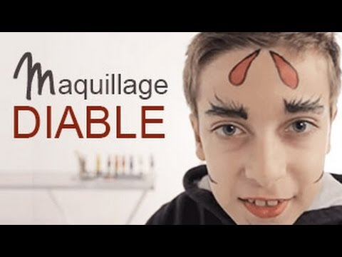 Maquillage diable tutoriel maquillage enfant facile youtube Maquillage de diablesse facile a faire