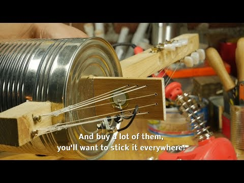 Homemade Instruments - 03 How To make a piezo microphone