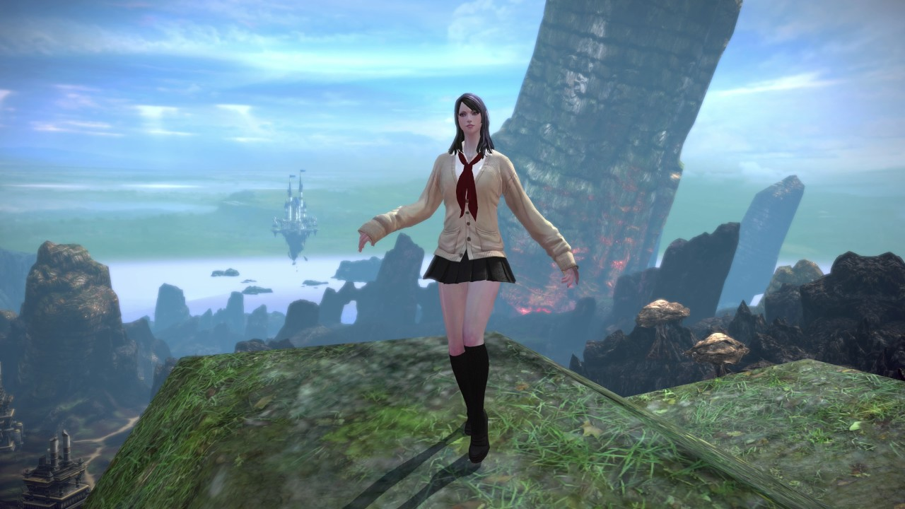 TERA High Elf Female Ivory Cardigan School Uniform