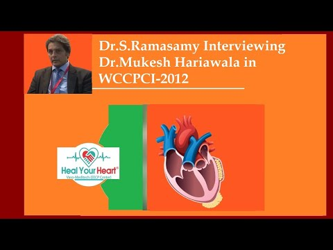 dr s ramasamy interviewing dr mukesh hariawala in wccpci 2012