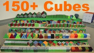 2018 my rubiks cube collection 150 cubes