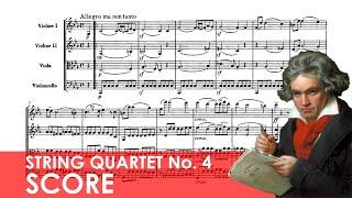 BEETHOVEN String Quartet No. 4 in C minor (Op. 18, No. 4) Score