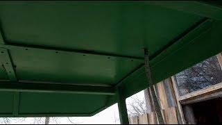 Шумоизоляция для самодельной крыши мототрактора.