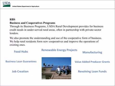 USDA RD Rural Business and Cooperatives Programs Overview