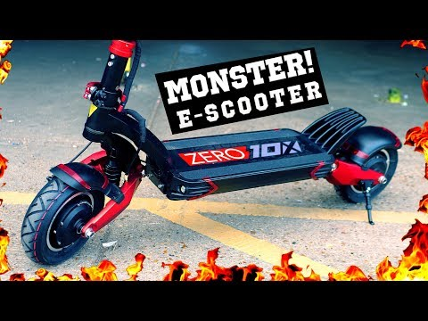 MONSTER E-SCOOTER! 🔥 ZERO 10X Electric Scooter Review (TurboWheel Lightning)