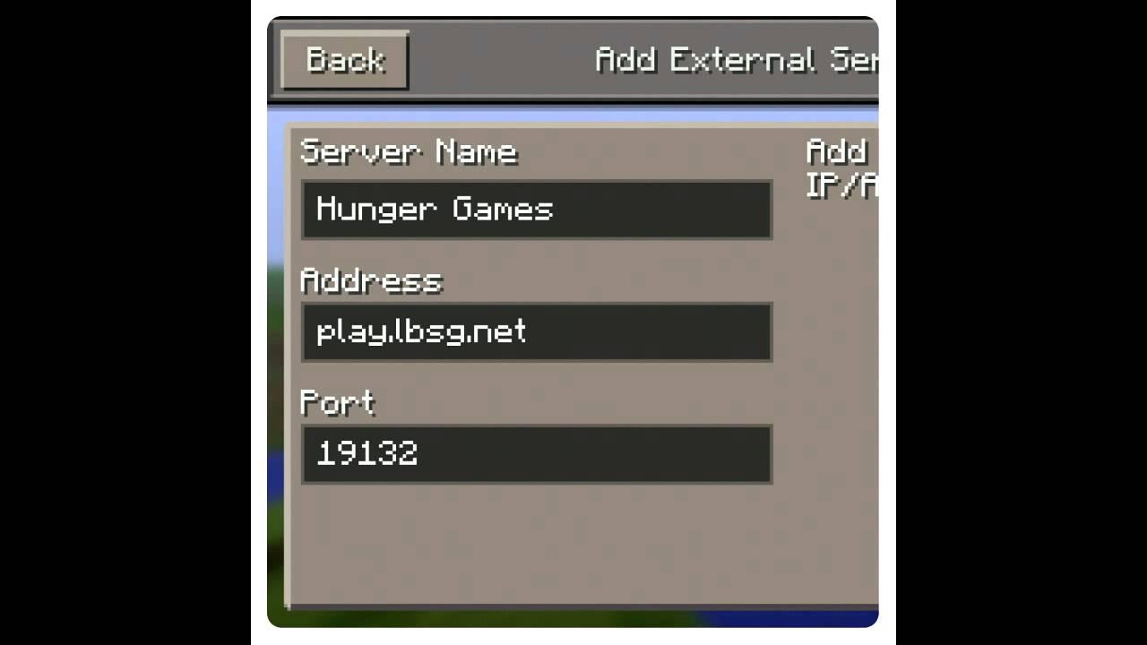 Address Servers Pc Hunger Ip Minecraft Games
