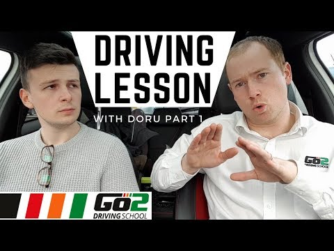 Doru's Driving lesson (intensive) Using Clutch WITH Gas, Pulling Over & Junctions