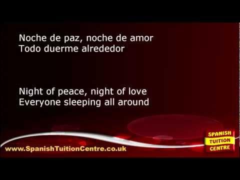 Learn Spanish Songs  Noche de Paz