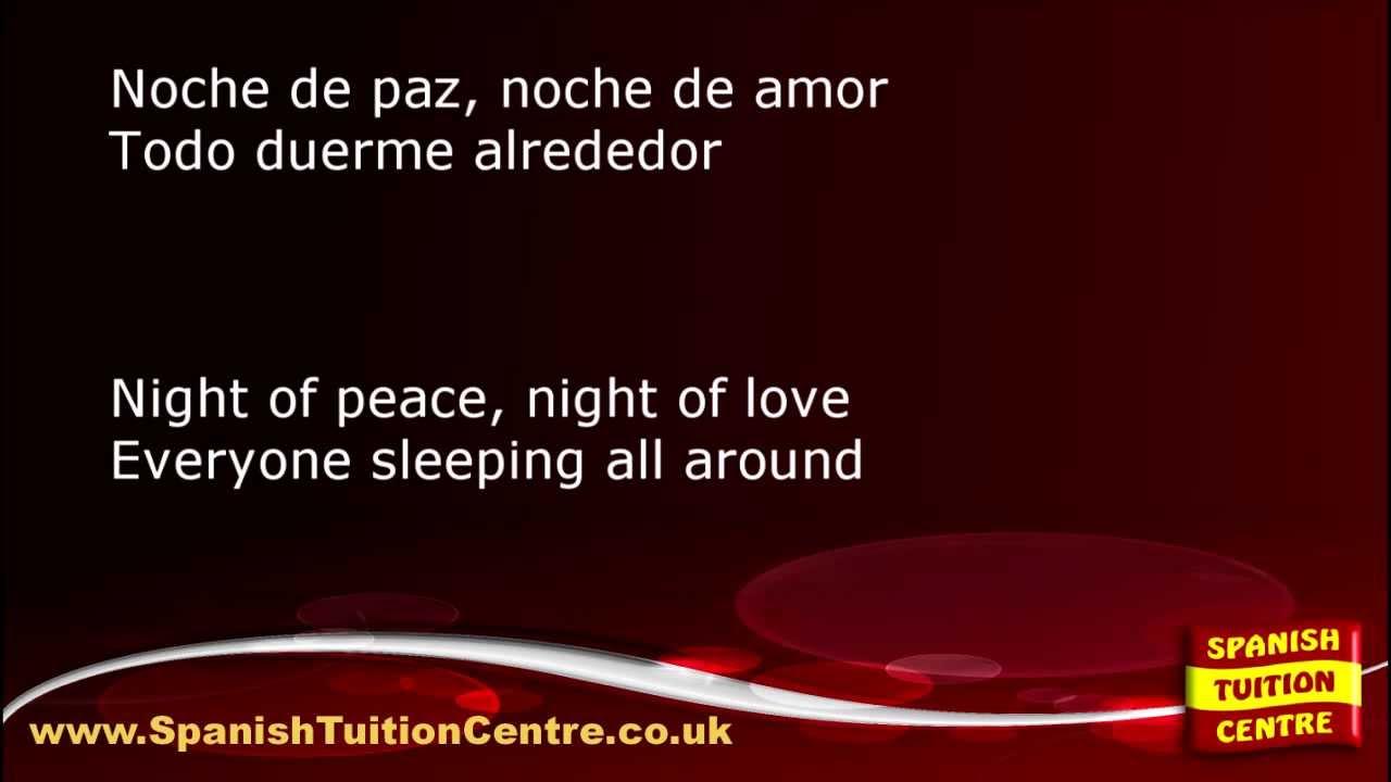 Learn Spanish Songs Noche De Paz Youtube