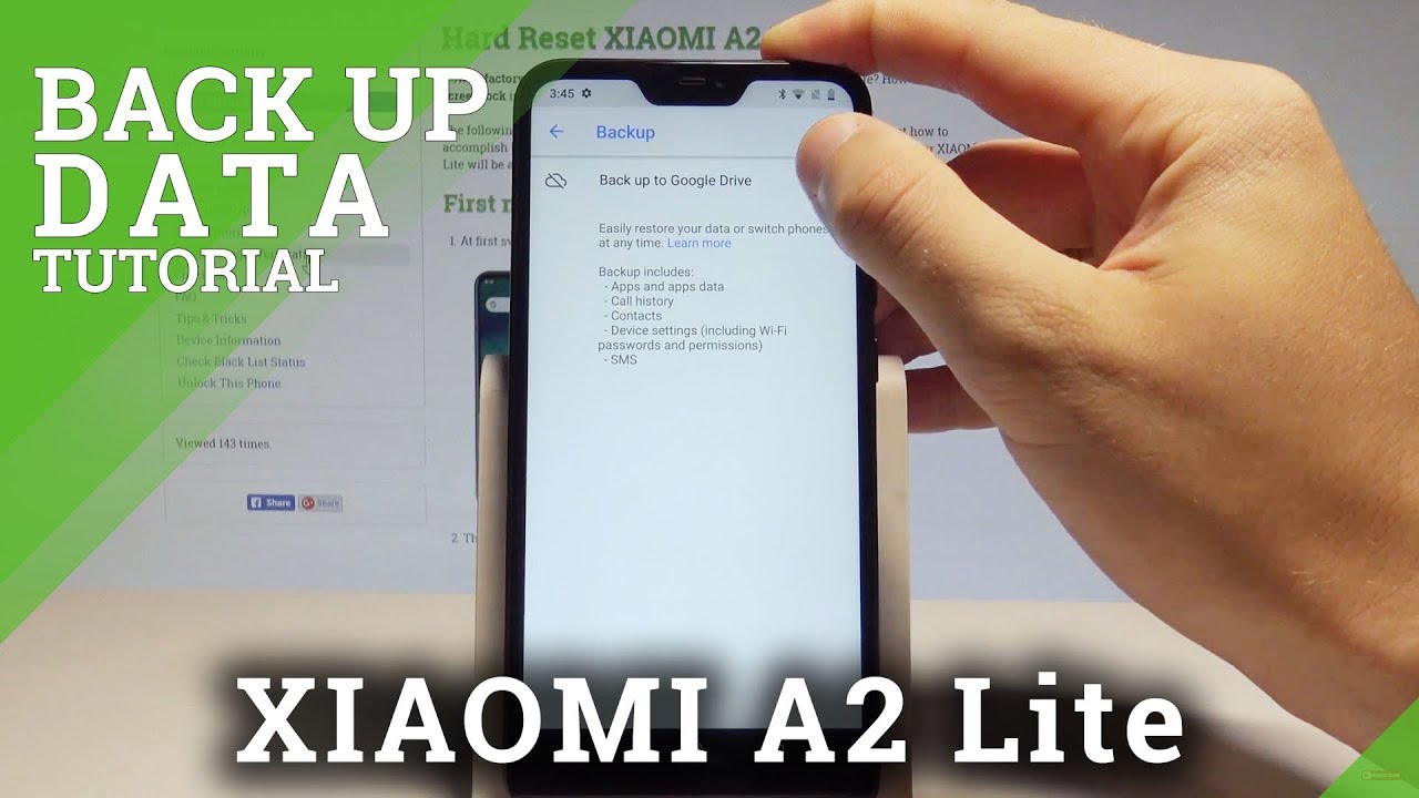 How To Back Up Data On Xiaomi A2 Lite Enable Google Backup Add Google Account Youtube
