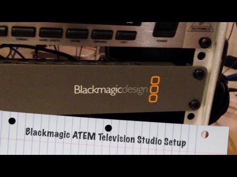 My Blackmagic ATEM Television Studio Setup - BlackmagicDesign thumbnail
