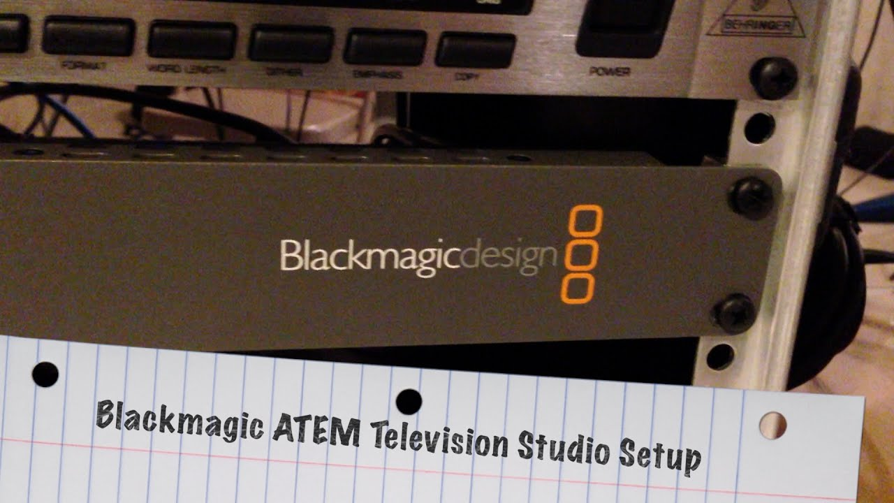 My Blackmagic Atem Television Studio Setup Blackmagicdesign Youtube Black Magic Fan Wiring Diagram