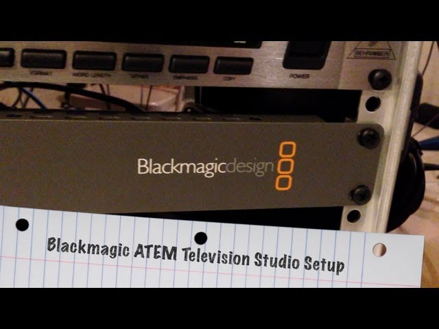 My Blackmagic ATEM Television Studio Setup - BlackmagicDesign