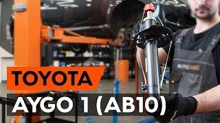 Como substituir coluna de suspensão dianteira no TOYOTA AYGO 1 (AB10) [TUTORIAL AUTODOC]