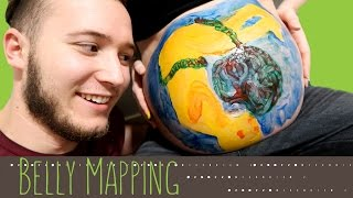 EMOTIONAL BELLY MAPPING! | Painting Baby on Belly