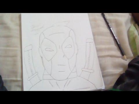 Esboço+arte(Deadpool) Sr Marcelo Leia A Descrição ...