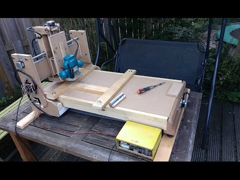 working diy cnc router made from junk