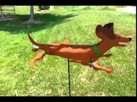 Dachshund Whiligig Spinner - Demo - Premier Kites & Designs - Youtube