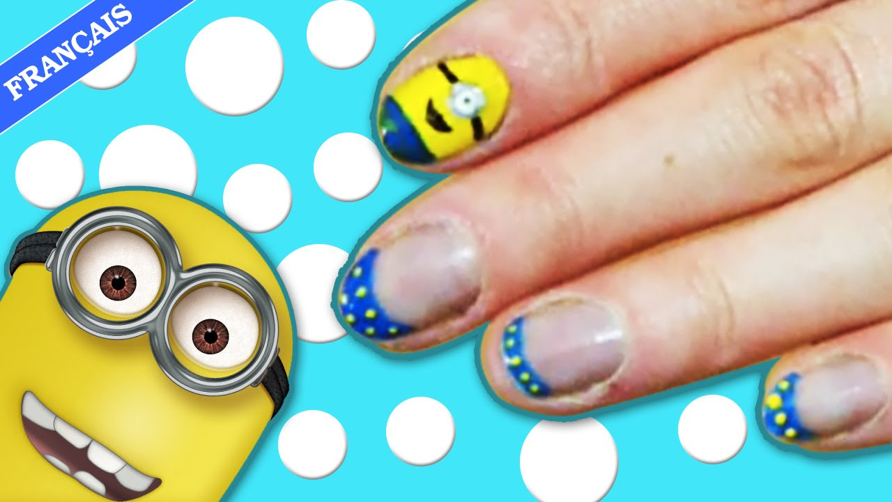 Minion Nail Art | Despicable Me 2: Minion Nails | Manucure Minions ...