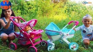 Эльза Ярослава Холодное Сердце гуляет с подружкой Коляска для куклы Stroller for Baby Dolls Toy