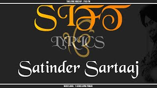 SIFT | Lyrics | Satinder Sartaaj | New Punjabi Song 2015 || Syco TM