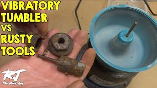 Cleaning Rusty Tools In Vibratory Tumbler