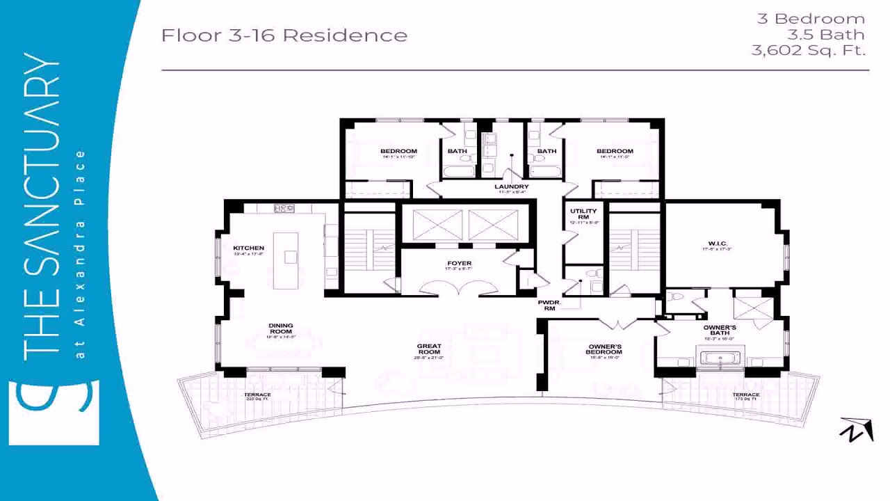 3 Bedroom Floor Plans With Dimensions Pdf Youtube