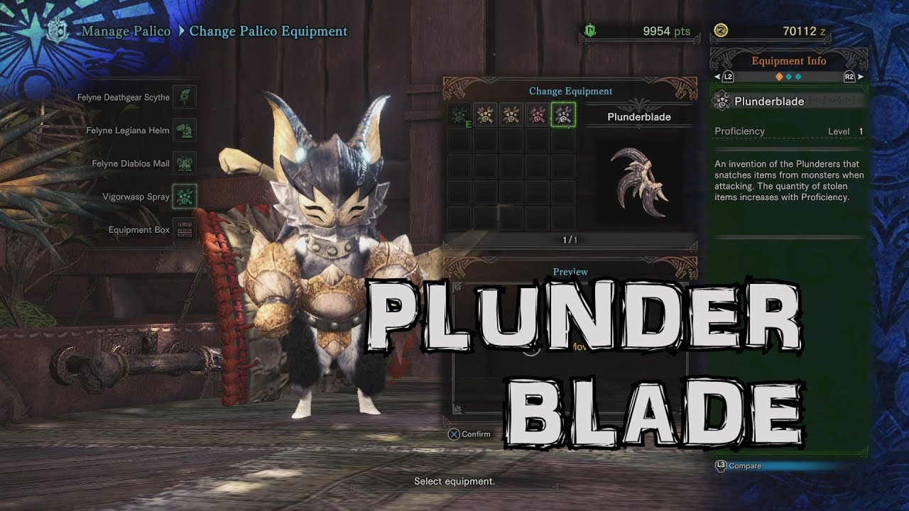 how to change palico gadget