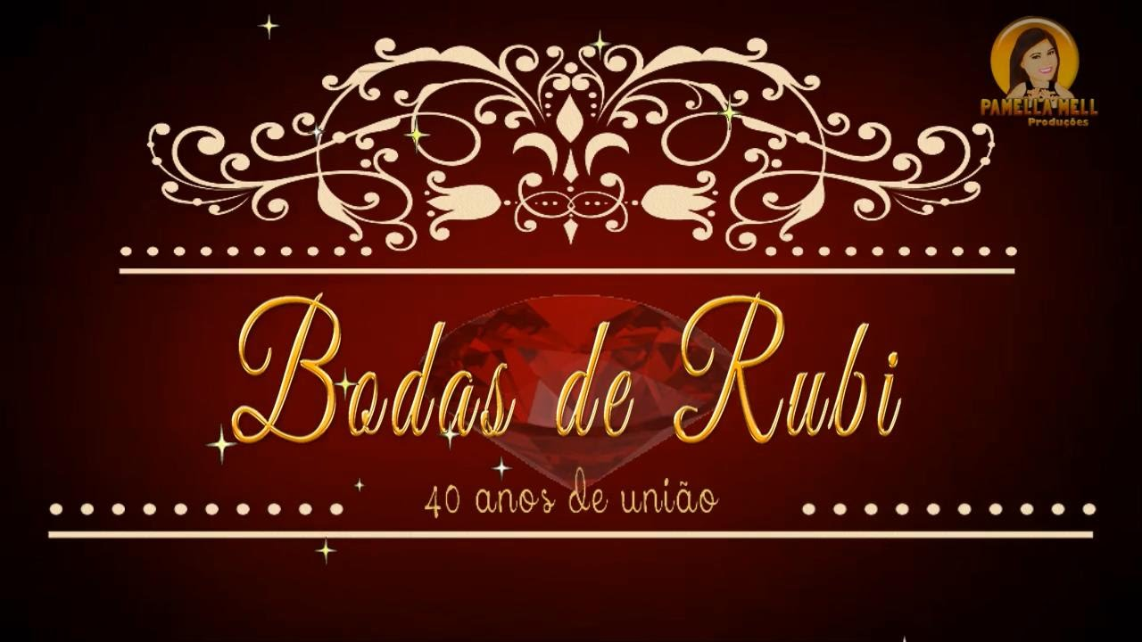 Projeto bodas de rubi by pamella mell youtube for Decoracion 40 aniversario de bodas