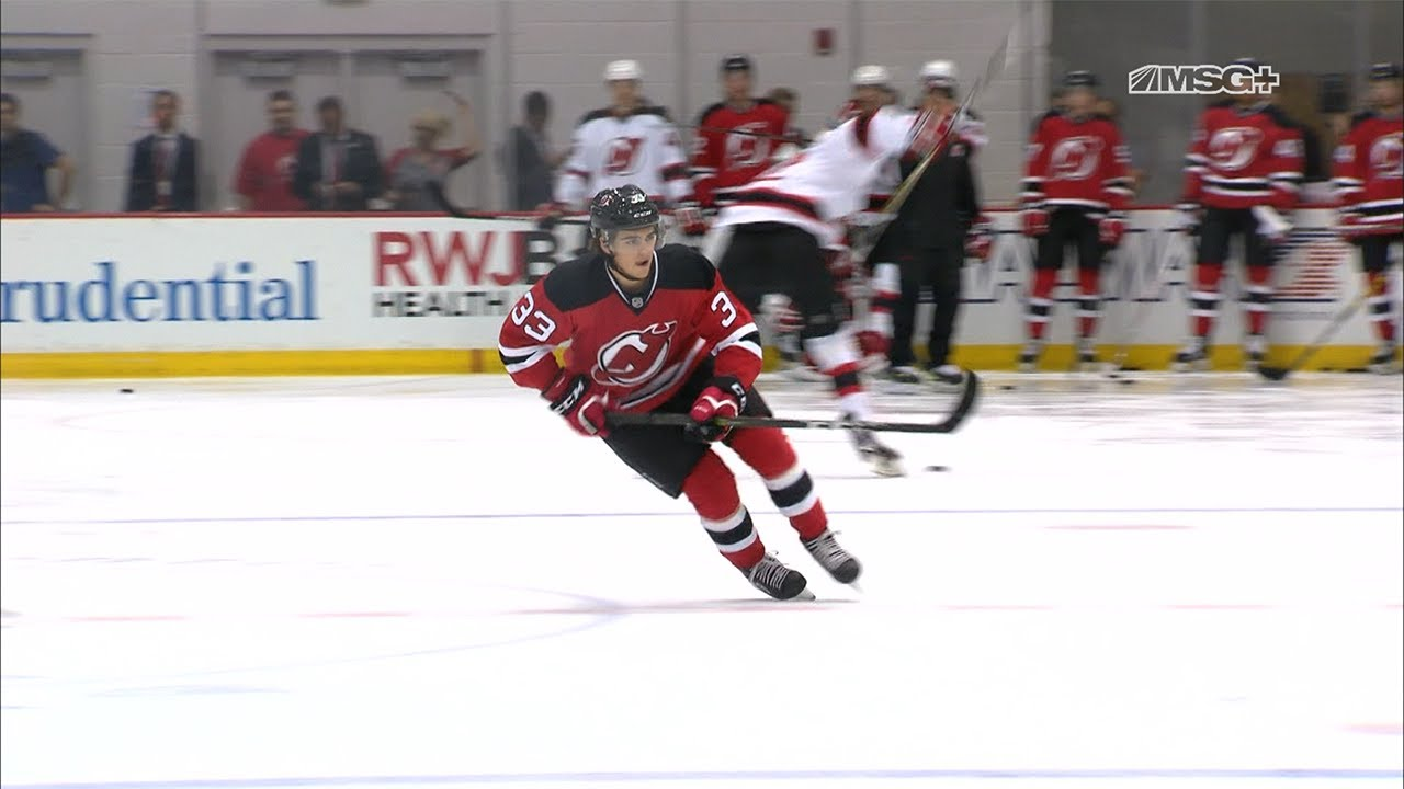 finest selection 83581 6dfbc Nico Hischier Learning, Having Fun at NJ Devils Prospect Camp