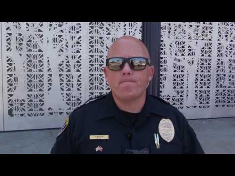 San Diego: East Village Homeless Man vs Security Guard 08042017