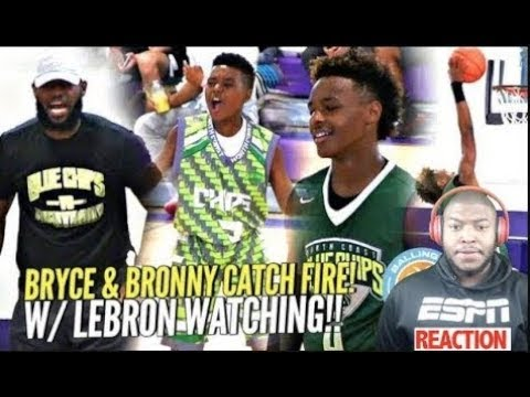 cb27f46b9849 LeBron James Watching Bryce Maximus CATCH FIRE!! Bronny Jr Goes OFF at  Balling On The Beach!