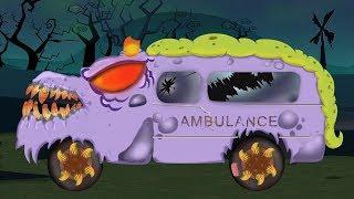 可怕的救护车 形成和使用 万圣节视频为孩子 Emergency Vehicles Scary Children Videos Ambulance Halloween Cartoon