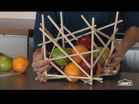 How to Make a Fruit Bowl from Wood Dowels