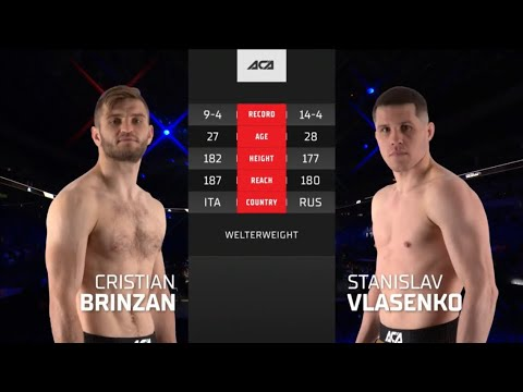 ACA 123: Кристиан Бринзан vs. Станислав Власенко   Cristian Brinzan vs. Stanislav Vlasenko