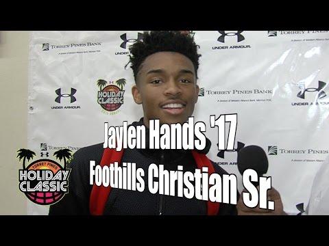 Jaylen Hands '17, Foothills Christian Senior Year, 2016 UA Holiday Classic