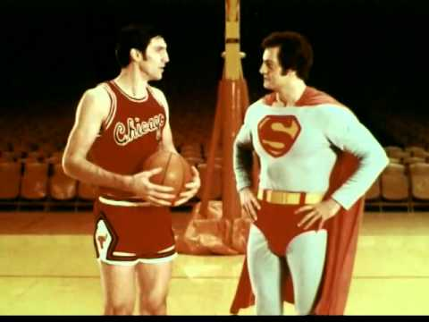 United States Air Force commercial with Jerry Sloan of the Chicago Bulls and.. Superman?
