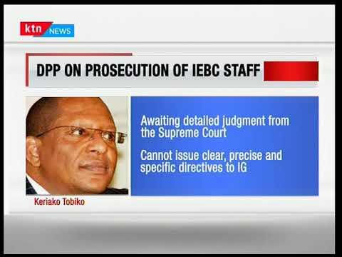 Keriako Tobiko responds to civil society groups' request to prosecute IEBC officials