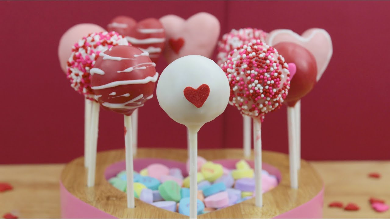 How To Make Valentine S Day Cake Pops Youtube
